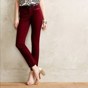Anthro Cartonnier Textured Charlie Ankle Pants 8